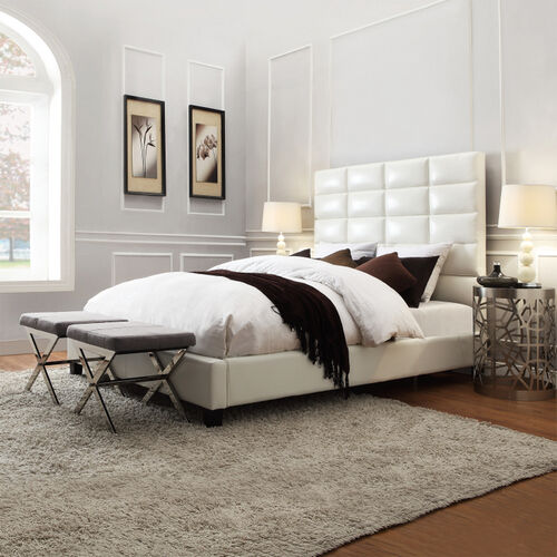 Home Creek Amara Bonded-Leather Upholstered Bed