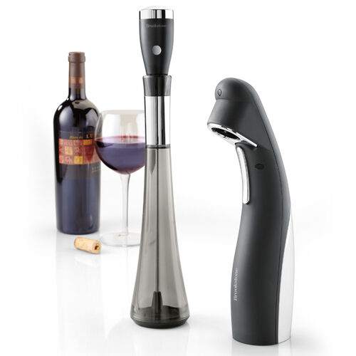 Aero™ Wine Aerator & Automatic Wine Opener 2-Piece Wine Gift Set
