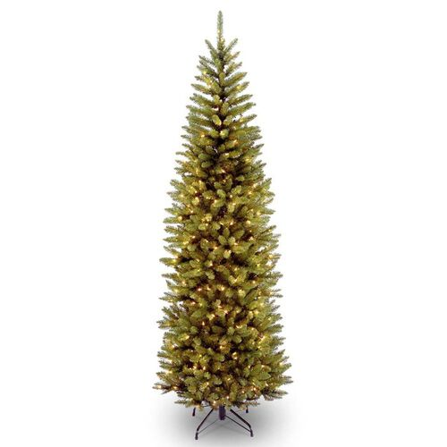 Pre-Lit Kingswood Fir Artificial Pencil Christmas Tree