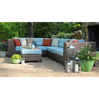 Dawson 7 Piece Outdoor Sectional Set with Sunbrella Fabric