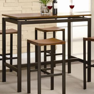Atlus Counter-Height Metal Table with 4 Stools