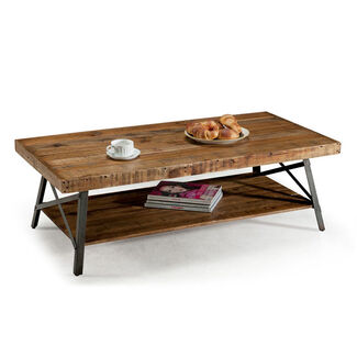 Chandler Reclaimed Wood and Metal Cocktail Table