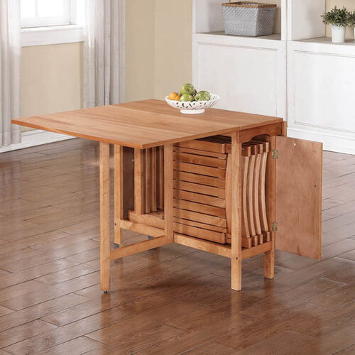 Where To Buy Kitchen Tables: Linon Home Décor 5-Piece Space Saver Table And Chairs Set