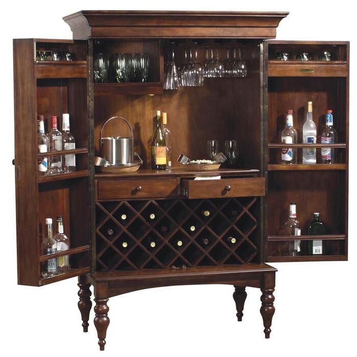 Howard Miller Cherry Hill Home Bar Wine And Liquor Cabinet Ebay