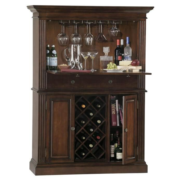Bar Furniture Home: Howard Miller Seneca Falls Home Bar Liquor Cabinet