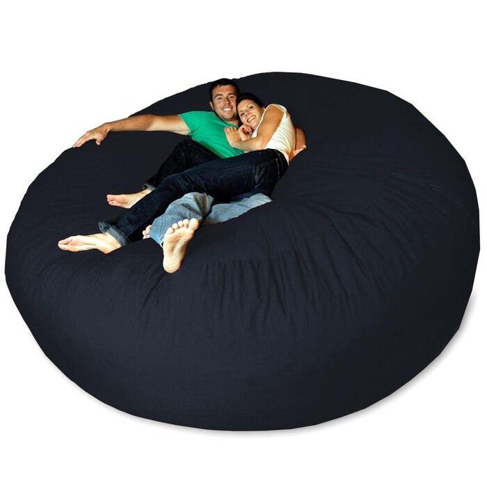 Micro Suede Giant Bean Bag Chair Navy EBay