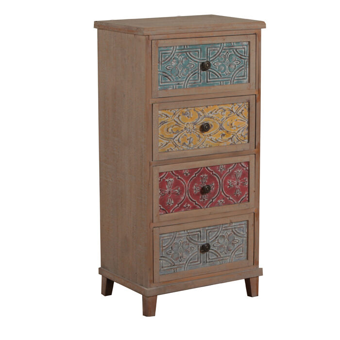 molly multi colored 4 drawer accent chest ebay