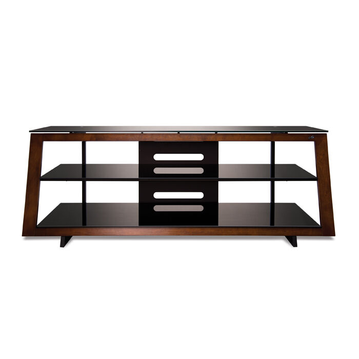 """65"""" Wooden Flat Audio-Video TV Cabinet with 3 Glass Shelves and Open Architecture Design by Bell'O"""