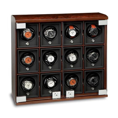 Refurbished 12-Module Briarwood Watch Winder - Rotobox by Underwood