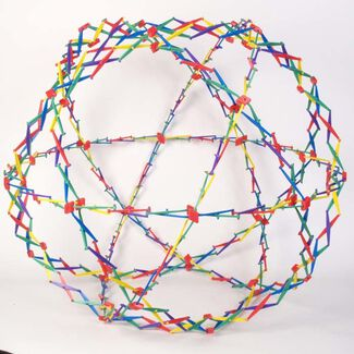 Hoberman Expanding Rainbow Sphere Toy