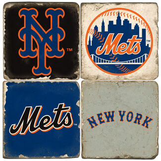 New York Mets Logo Drink Coasters