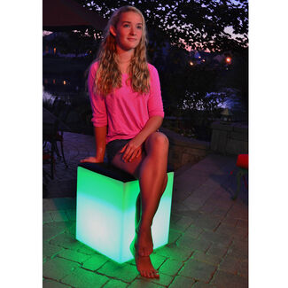 Rio LED Leather Padded Seat Stool