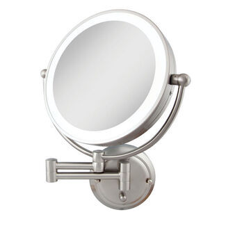 Glamour Dual Sided Lighted Wall Mount Mirror