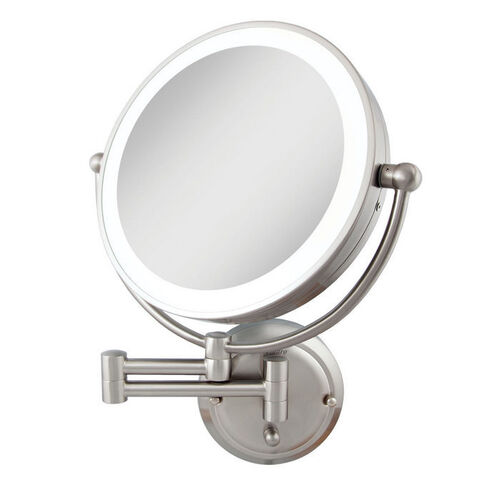 Glamour Dual Sided Lighted Wall Mount Mirror At Brookstone