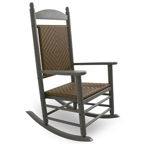 POLYWOOD Jefferson Woven Outdoor Rocking Chair