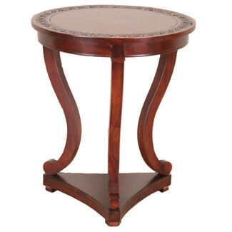 Carved Round Serpentine Table