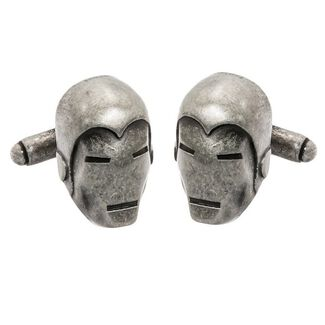 Marvel Comics Metal Ironman Cufflinks with Detailed 3D Head and Bullet Backings