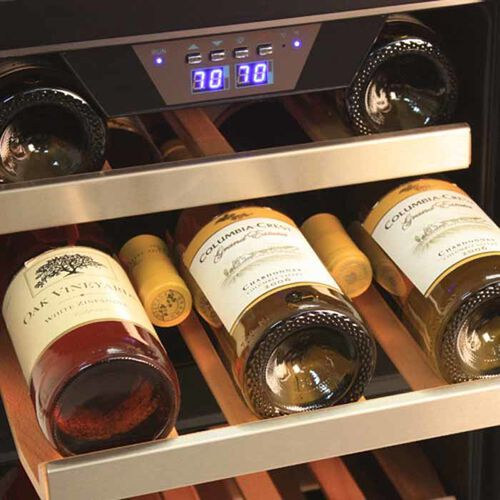 EdgeStar Dual Zone Stainless Steel Built-In Wine Cooler