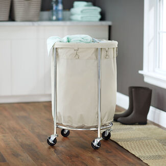 Commercial Round Laundry Hamper by Household Essentials