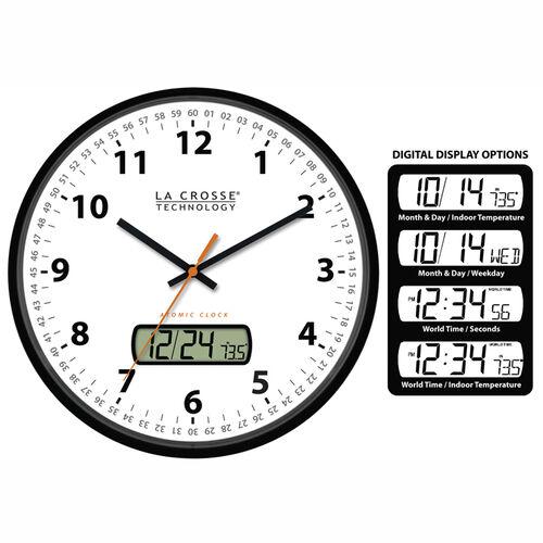 Analog Atomic Radio Controlled Time Wall Clock At