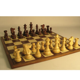 Sheesham French Knight Chess Set w/ Veneer Board