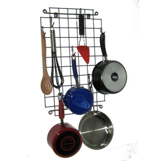 Enclume Grid Wall-Mount Metal Pot Rack