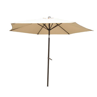 8' Aluminum Tilt and Crank Patio Umbrella