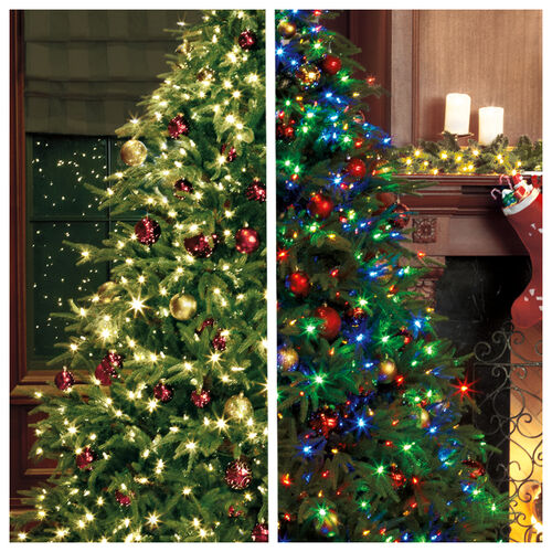 Pre-Lit Fraser Grande Hinged Tree with Color-Changing Technology
