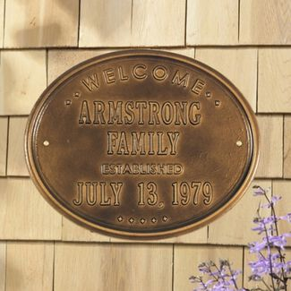 "Welcome ""Family"" Established Personalized Plaque"