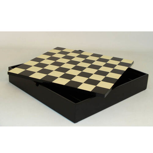 Veneer Chess/Checkers Board & Storage Chest