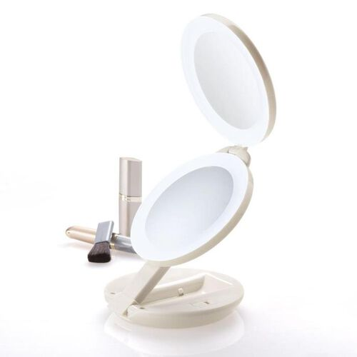 Lighted 1X/10X Travel Mirror