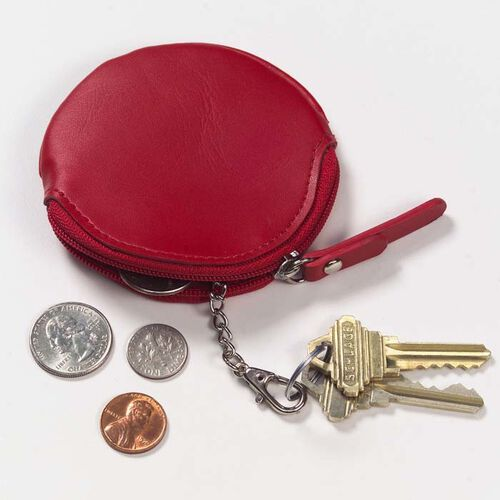 Clava Round Coin Purse with Keychain
