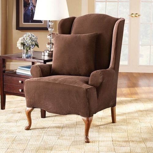 Stretch Pique Wing Chair Cover