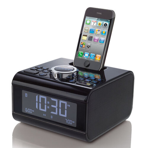 Cube Alarm Clock Radio for iPod® and iPhone® Devices