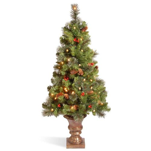 Pre-Lit Artificial Entrance Christmas Tree