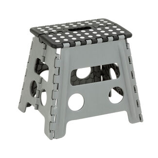 Skid-Resistant and Plastic Folding Step Stool with Carrying Handle and Foam Grip