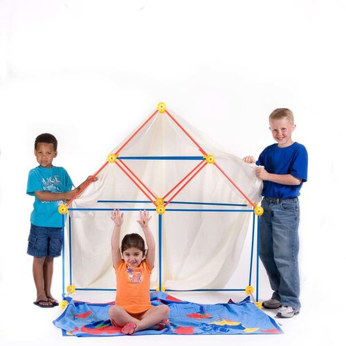 EZ-Fort: Original 54 Piece Fort Building Kit
