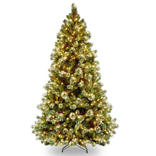 7.5' Decorative Artificial Christmas Tree with Clear Lights