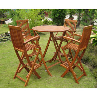 Royal Tahiti Seville Bar-Height Outdoor Table & Chairs Set