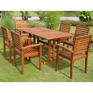 Royal Tahiti Badalona 7-Piece Patio Dining Set