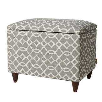 Jennifer Taylor Amily Waverly Wooden Storage Ottoman