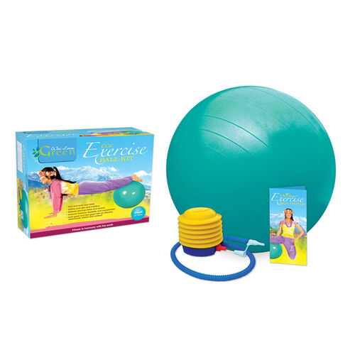 Home Gym Equipment: Eco Exercise Ball Kit with Poster