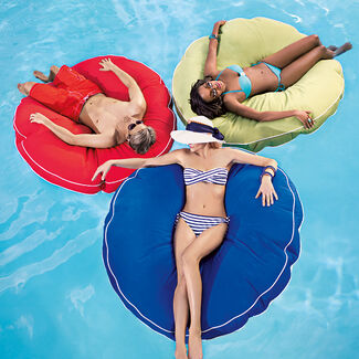 Floating Luxuries Cool Touch Jumbo Kai Round Pool Float