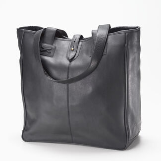 Clava Personalized Oversized Vachetta Leather Tote Bag