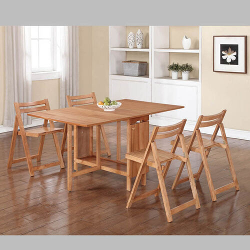 Linon Home Décor 5 Piece Space Saver Table And Chairs Set