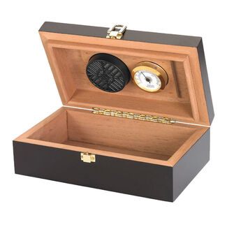 Travel Humidor with Hygrometer and Magnetic Lid (12 Cigars)