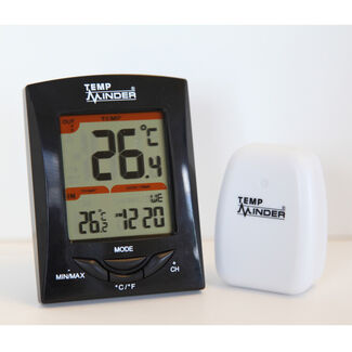 TempMinder MRI-200HI Wireless Indoor/Outdoor Thermometer & Clock
