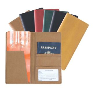 Personalized Royce Milano Feather-Lite Manmade Leather Passport Ticket Holder
