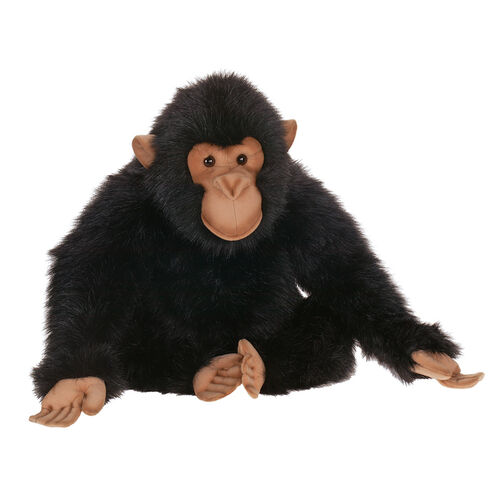 Hansa Plush Realistic Stuffed Animal - Sitting Chimp