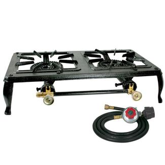 Sportsman Series Double-Burner Cast Iron Propane Stove with Hose